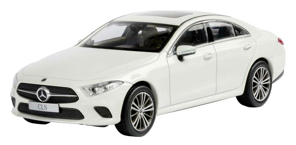 Модель автомобиля Mercedes CLS, Designo Diamond White Bright, Scale 1:43