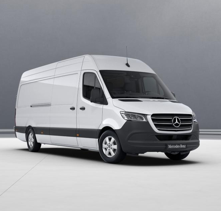 Модель автомобиля Sprinter фургон, 1:18, White