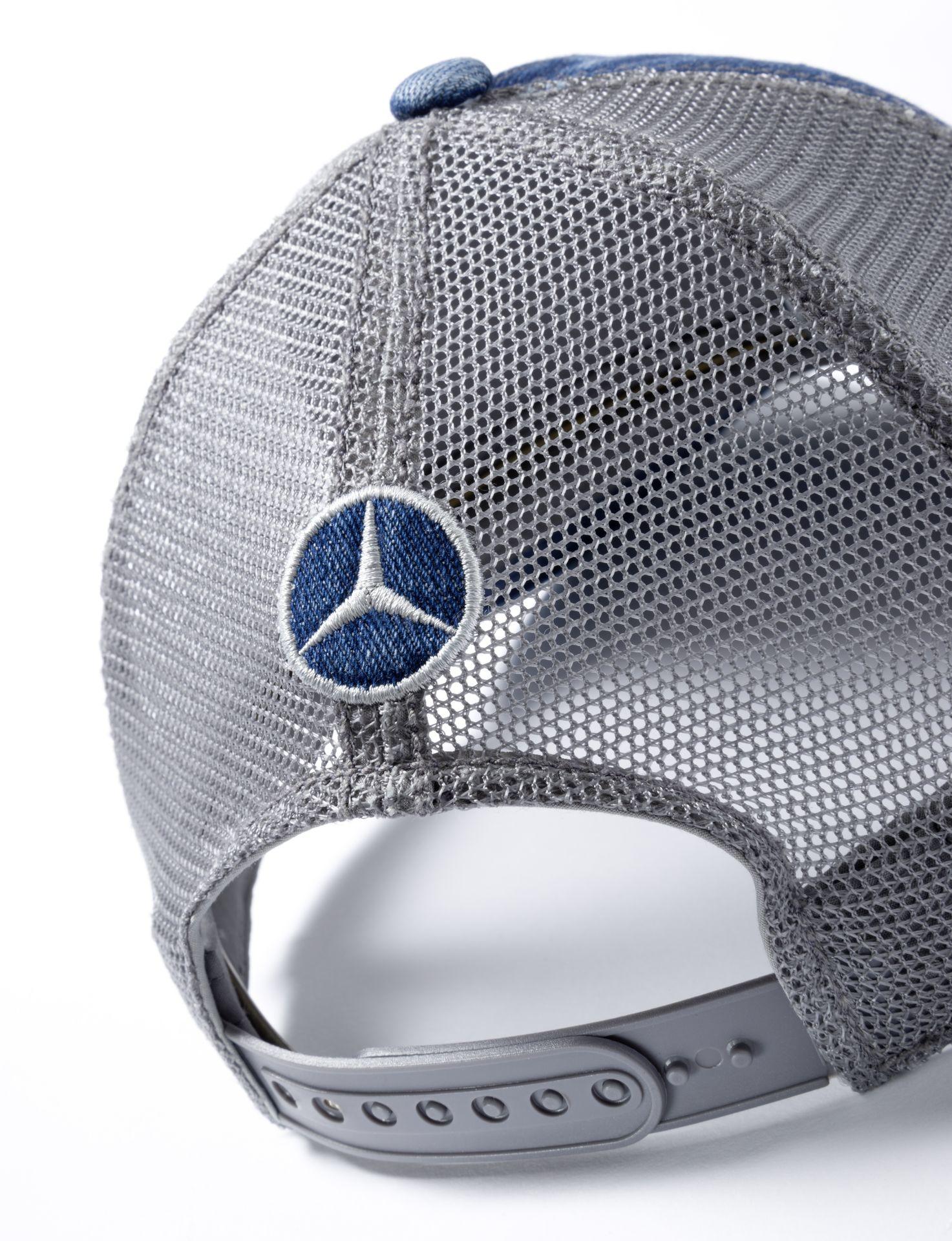Мужская бейсболка Mercedes Trucker Disctrict Men's Cap, Jeans Blue