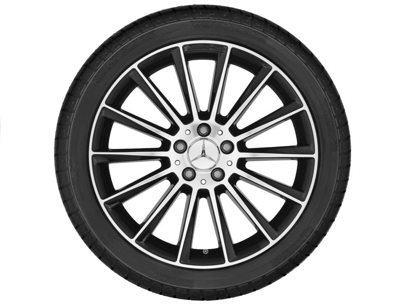"""Многоспицевый колесный диск AMG, 48,3 см (19"""") 8,5 J x 19 ET 52, черный"""