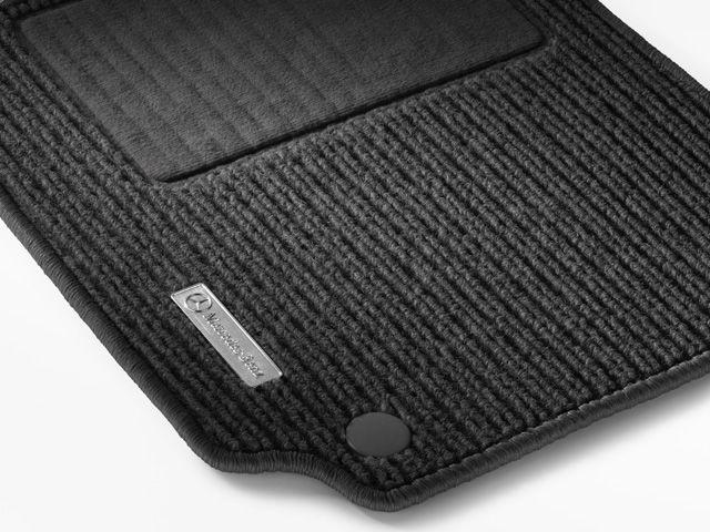 Рипсовые коврики CLASSIC, комплект, из 4-х частей, черные