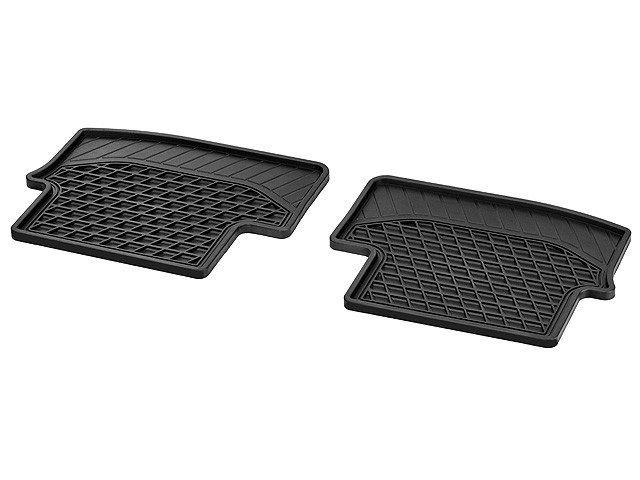 Всесезонные коврики, CLASSIC, Задняя часть салона, из 2-х частей, черные