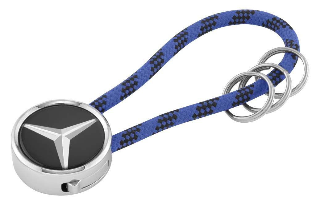 Брелок Mercedes-Benz Key Ring, Mumbai, Black/Silver/Blue