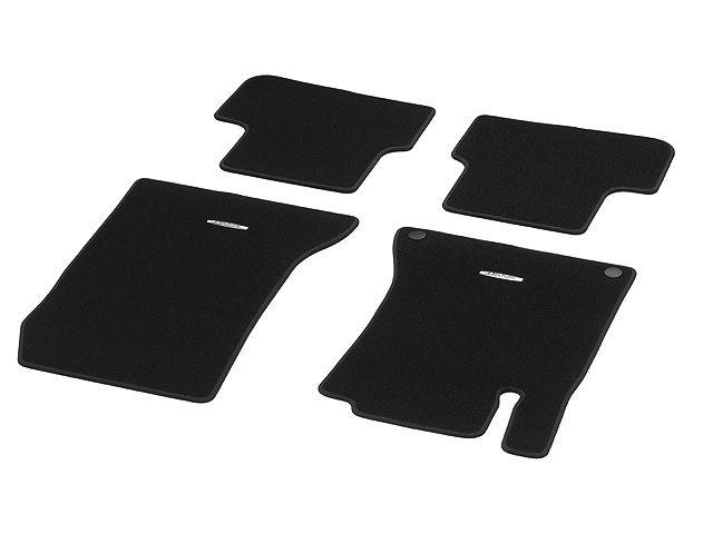 Велюровые коврики СПОРТ, Комплект, из 4-х частей, черный