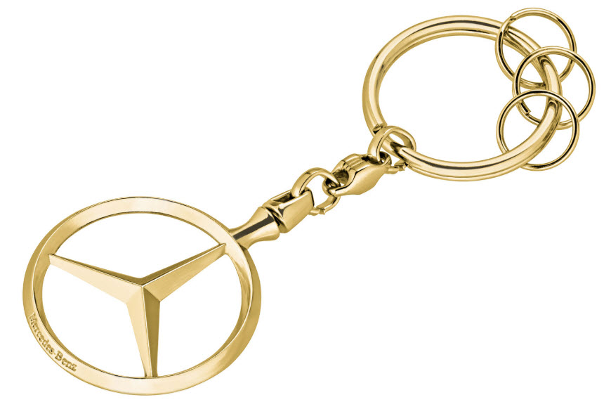 Брелок Mercedes-Benz Key Chains Brussels, Gold-coloured