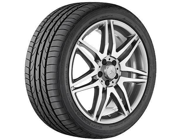 """Колпачки на ступицы колес AMG, в стиле центральной гайки """"Хром Шадоу темный"""" (металлик)"""