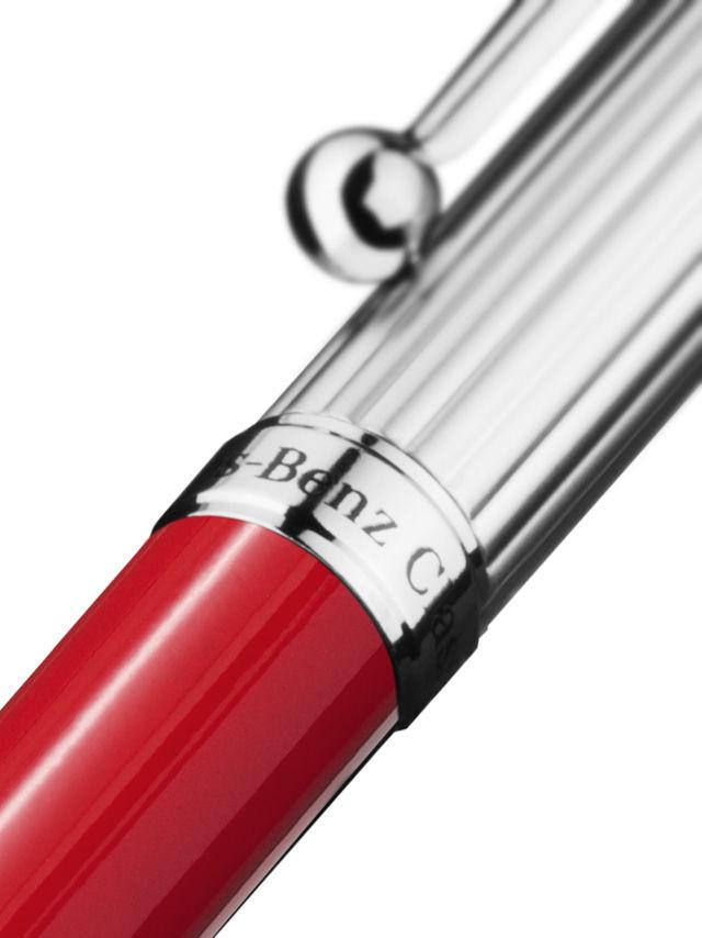 Шариковая ручка, red, metal