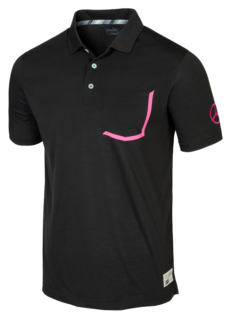 Мужская футболка поло от PUMA для Mercedes-Benz, черная