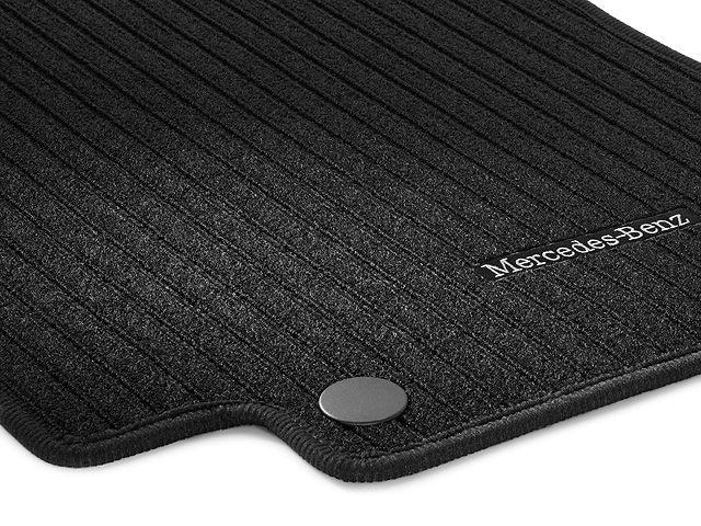 Рипсовые коврики CLASSIC, коврик водителя/переднего пассажира, из 2-х частей, черные с окантовкой черного цвета