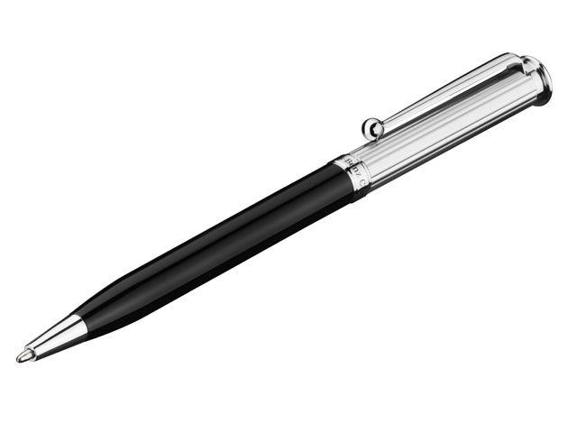 Шариковая ручка, black, metal