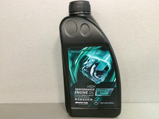 Синтетическое моторное масло Mercedes MB 229.5 AMG, вязкость 5W40, 1л