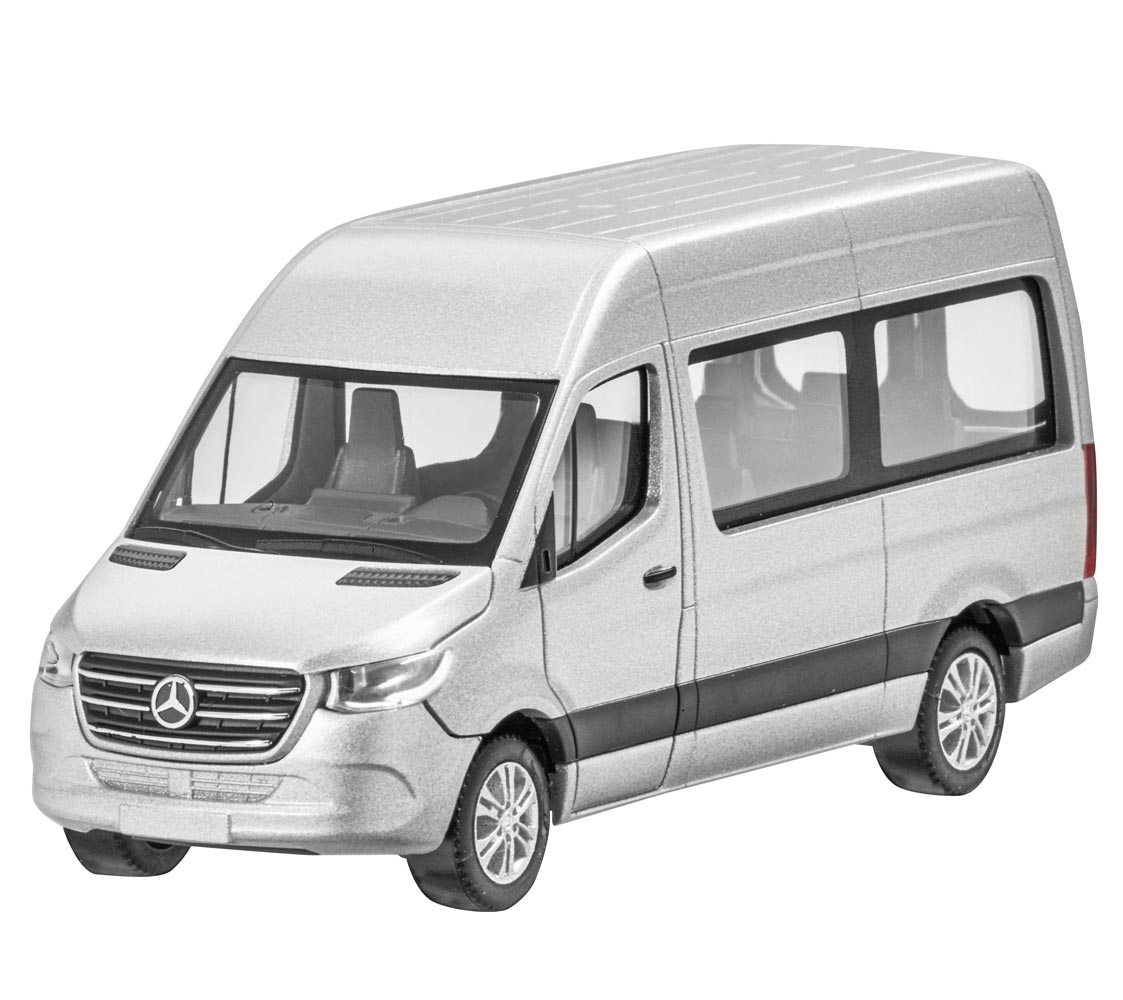 Модель автомобиля Sprinter микроавтобус, 1:87, белый