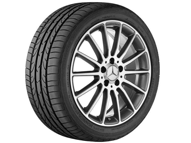 """Многоспицевый колесный диск AMG, 45,7 см (18"""") 7,5 J x 18 ET 52, """"Серый титан"""""""