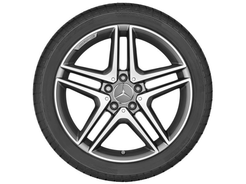 "5-спицевый диск AMG со сдвоен. спицами, 45,7 см (18"") 8 J x 18 ET 48, ""Серый титан"""