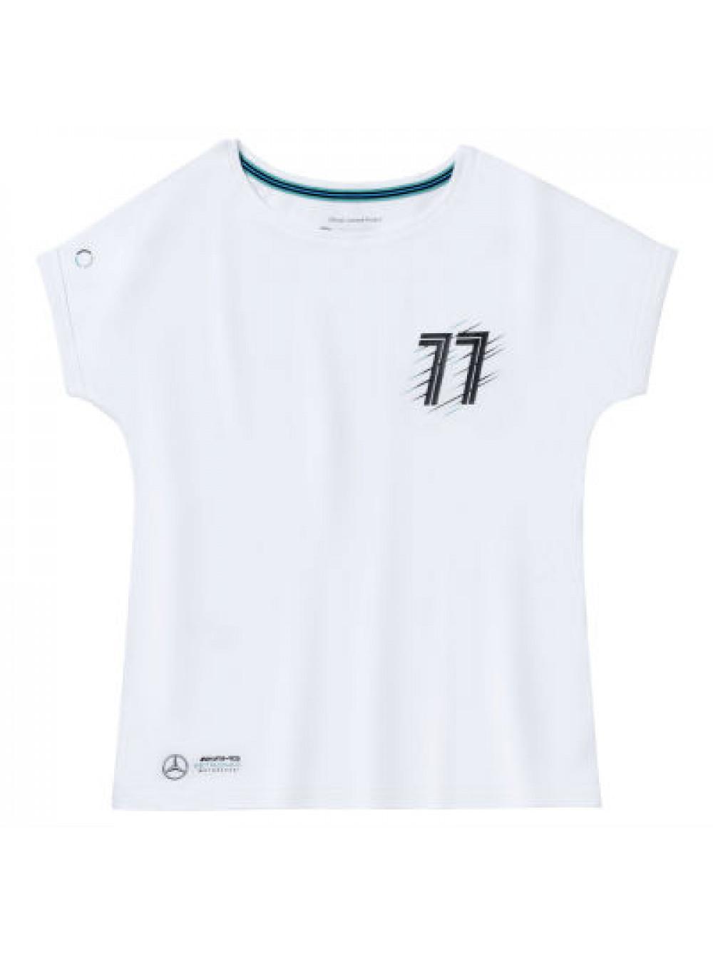 Женская футболка Mercedes AMG Petronas Women's T-shirt, Valtteri Bottas, White S