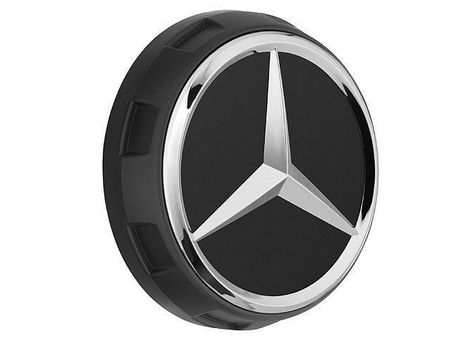 Колпачки на ступицы колес AMG, в стиле центральной гайки Черный матовый