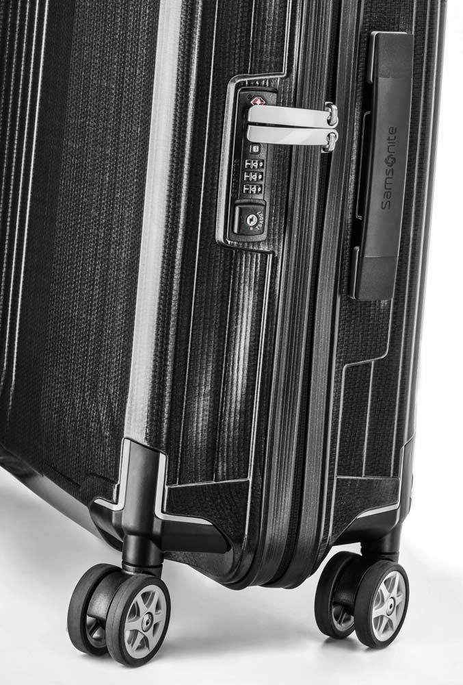 Чемодан Samsonite Lite-Box, Spinner 75, размер L, черный