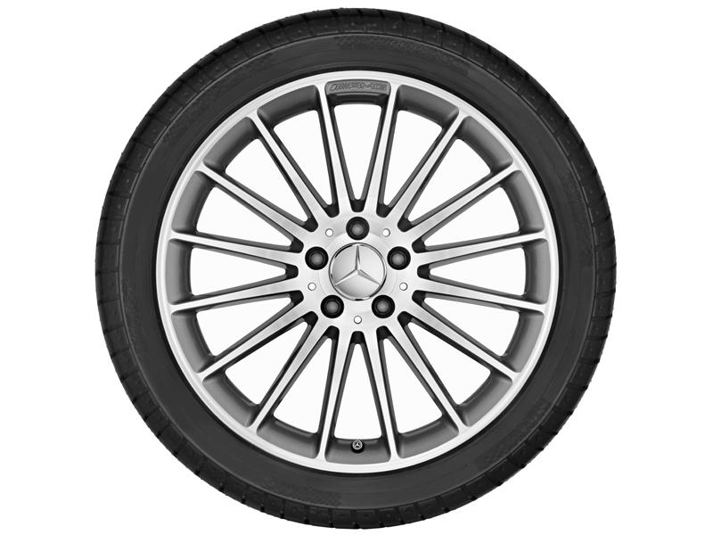 """Многоспицевый колесный диск AMG, 48,3 см (19"""") 8 J x 19 ET 48, """"Серый титан"""""""