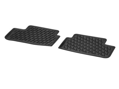Коврики салона резиновые черные для Mercedes A class V177 Задняя часть салона, из 2-х частей