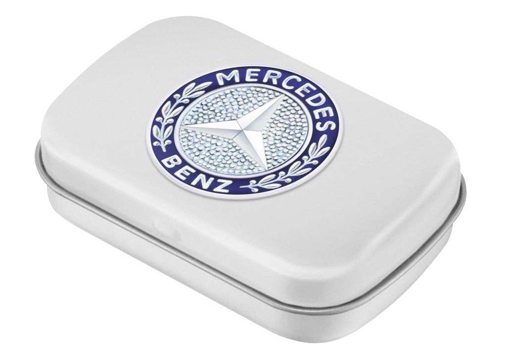 Банка для леденцов Mercedes-Benz Mint Box, Classic, Silver-coloured