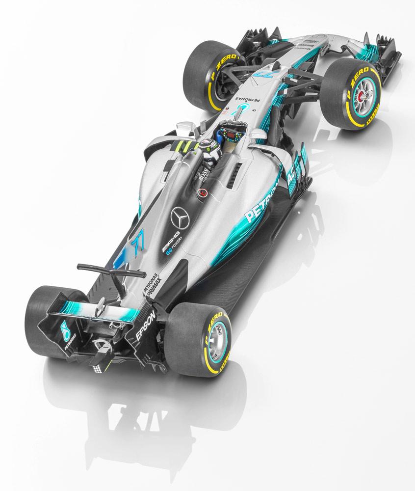 Модель MERCEDES AMG PETRONAS F1, 2017, Валттери Боттас