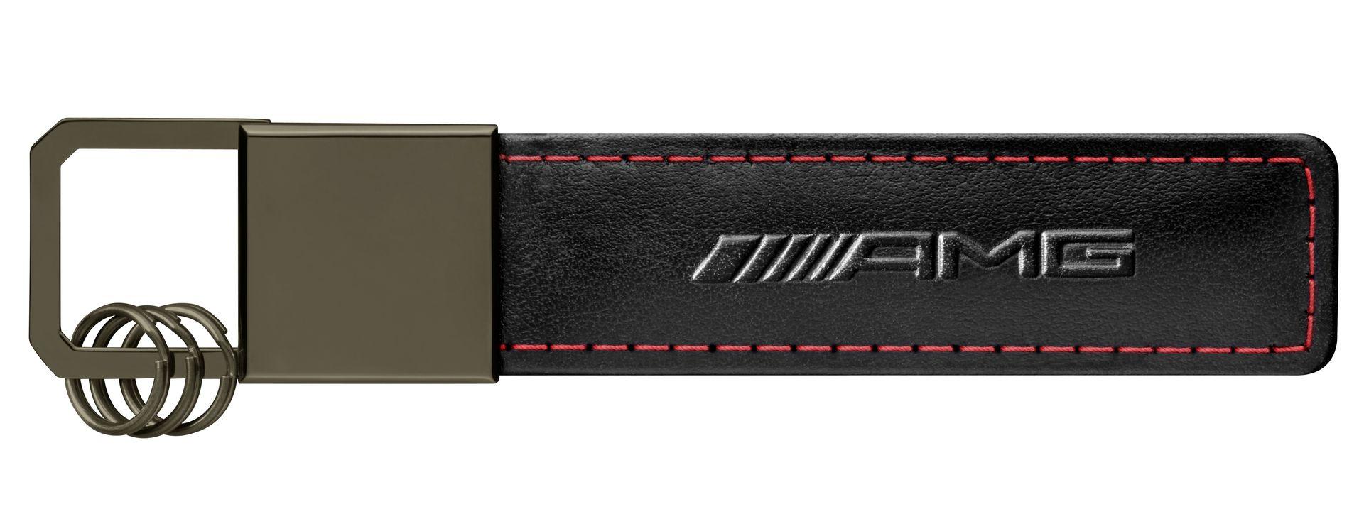 Брелок Mercedes-Benz Key Ring Traffic Red AMG, Black/Red/Silver