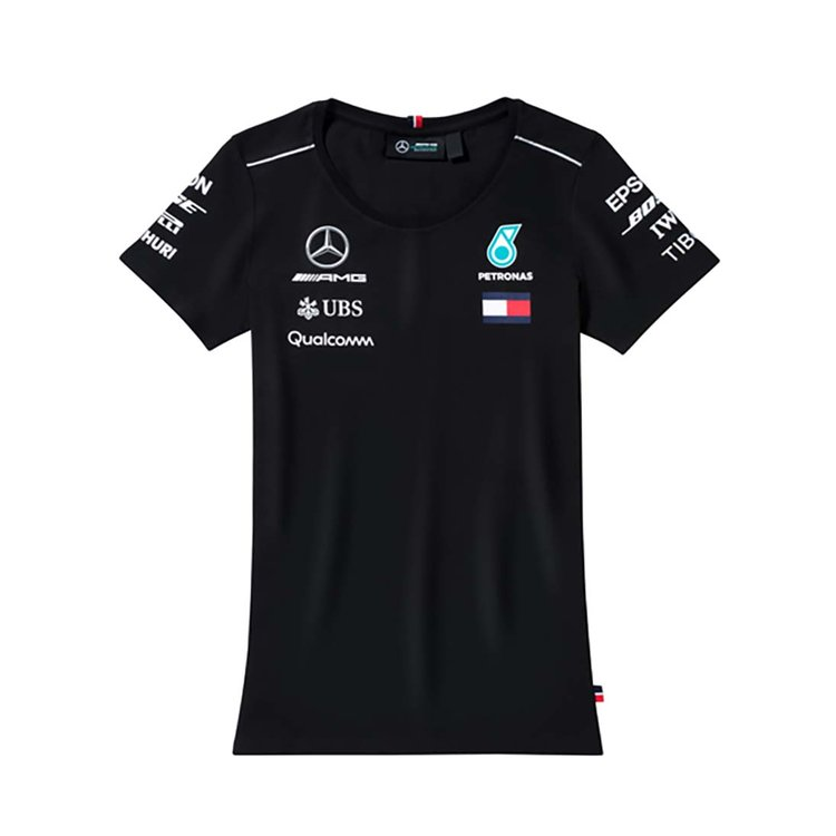 Женская футболка Mercedes AMG Petronas Ladie's T-shirt, Black XS