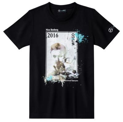 Футболка унисекс Mercedes F1 Unisex Nico Rosberg 2016 Winner Shirt XL
