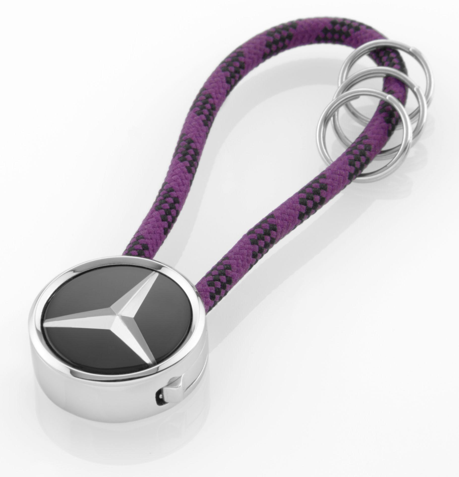 Брелок Mercedes-Benz Key Ring, Mumbai, Black/Silver/Plum